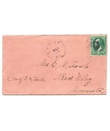 c1869 Strong ME Vintage Post Office Postal Cover - $9.95