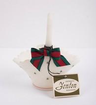 Fenton 1970s Christmas Tree Basket Hand Painted T Watson Hand Painted Vintage - $88.11