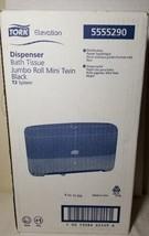 TORK Elevation Black 2 Jumbo Roll Bath Tissue Dispenser 5555290 NIB NEW - $29.69