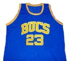 Michael Jordan #23 BUCS Laney High School New Basketball Jersey Blue Any Size image 4