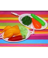 Play food lot Holiday Meal Dinner Turkey Carrots Asparagus peas dishes p... - $14.84