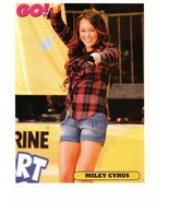 Miley Cyrus teen magazine pinup clipping jean shorts pointing at you Go mag - $2.50