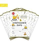 25pcs Construction Truck Party Invitation,Double Sided Construction Invi... - $13.24