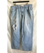 Mens Distressed Jeans Sonoma 38 x 30 Trashed Ripped Torn Thrashed - $9.89