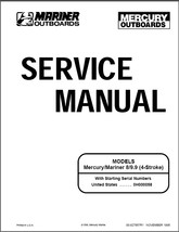 Mercury / Mariner  8 - 9.9 hp  4-stroke Outboard Motor Service Repair Manual CD - $12.00