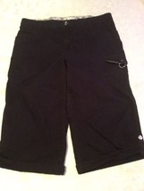 Ladies-Size 16 med.-Lee capri pants black-shorts-Just Below The Waist - $17.99