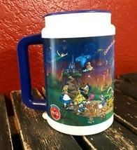 Disney Vintage Coca Cola Mug Large Handled Cup Mickey Donald Belle Aladdin 2000 - $16.82