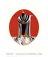 """ERTE Monaco 36"""" x 26.25"""" Poster 1994 Art Deco Multicolor, Red, Black & White - $70.13"""