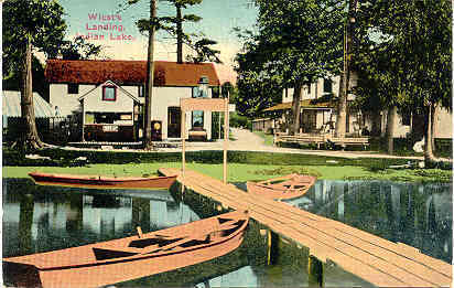 Indian Lake Michigan Wiest's Landing Vintage Post Card