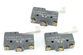 LOT OF 3 OMRON Z-15GW2-B7-K ROLLER LIMIT SWITCHES 15A 125-250-480VAC Z15GW2B7K image 2