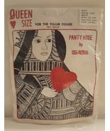 Leg Appeal Queen Size Pantyhose Made in USA Hosiery Nylon Heart Card 1X-... - $19.79