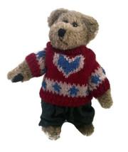 "Boyds Bears Freddy Beanberger 10"" Brown Bear 911901 Retired Red Heart Sw... - $12.86"