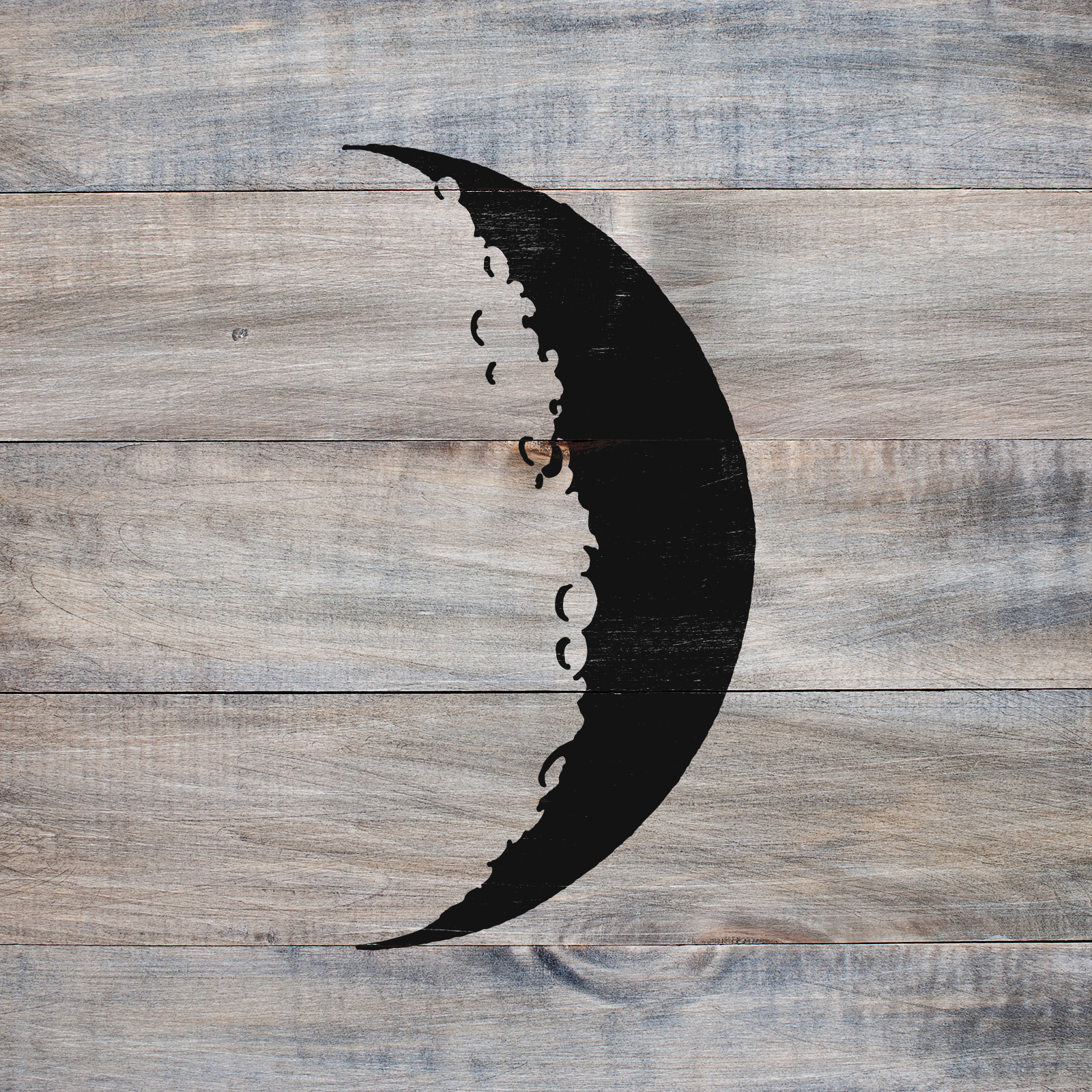 Crescent Moon Stencil - Reusable Stencils of a Crescent Moon in Multiple Sizes