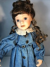The Boyds Collection Ltd. Porcelain Doll Ms Ashley With Doll Stand - $23.38