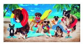 Dogs at the Beach - Velour Beach Towel  - $28.99