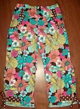 Cottontails Originals Girls Capri Size 6X Floral Ruffle Pants Spring Summer  - $19.79