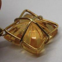 Drop Earrings Yellow Gold 18K, Diamonds,Quartz Citrine,Hearts,Flowers image 4