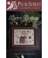 Berry Cottage cross stitch chart Plum Street Samplers  - $10.80