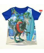 EPIC THREADS NEW KIDS BOYS DINOSAUR BLUE COTTON BLEND T SHIRT TEE 7 - $9.89