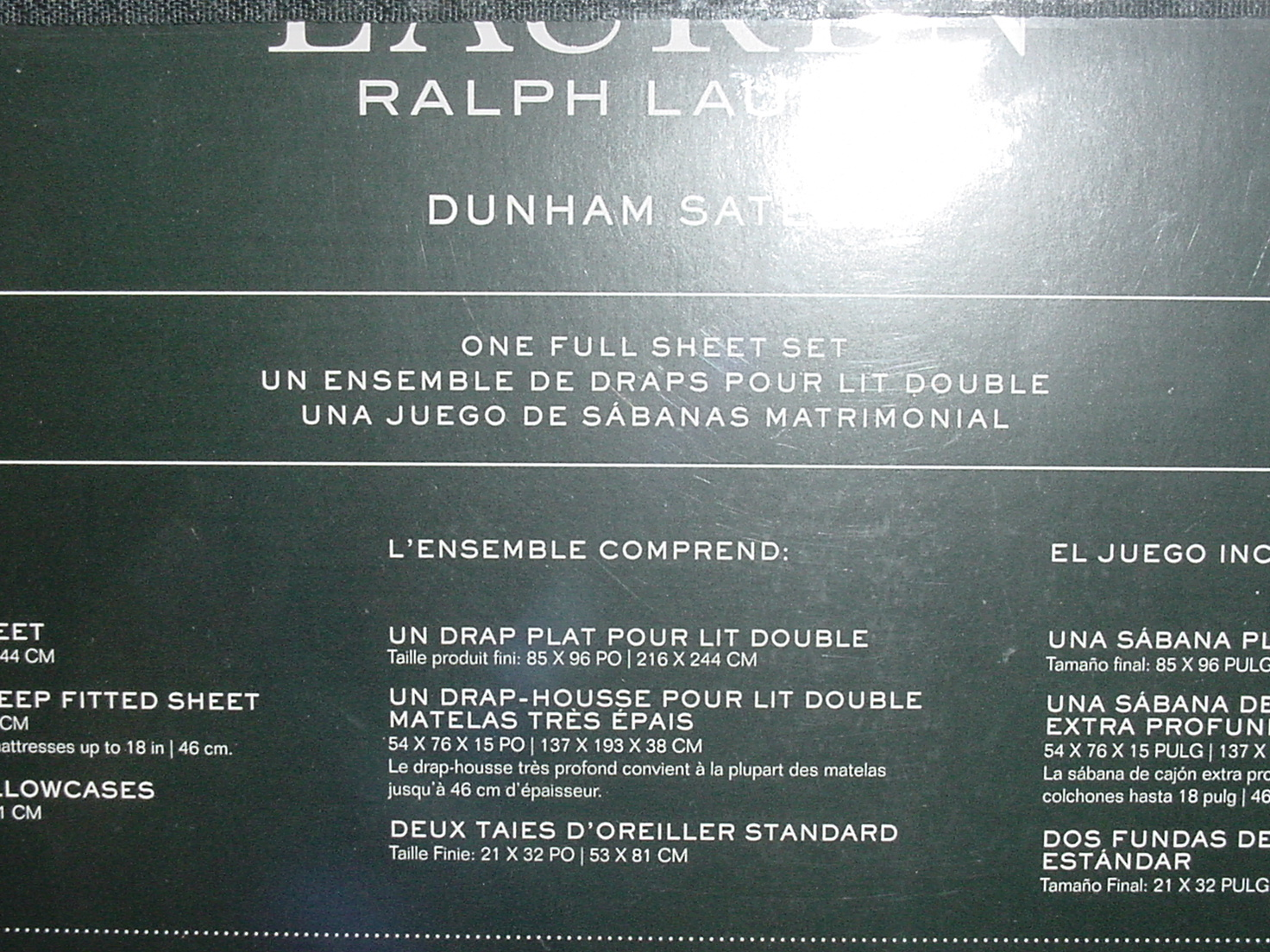 Ralph Lauren Dunham Admiral Red Sheet Set Full