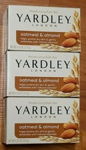 Yardley Soap Oatmeal & Almond Moisturizing Bath Bar *New* 3 Bars - $4.50