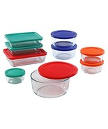 Pyrex Simply Store Glass Rectangular and Round Food Container Set (18-Pi... - $53.48
