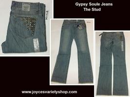 Women's Gypsy Soule Western Jeans The Stud Stretch Sz 28, 30, 34, 36 Waist - $14.99