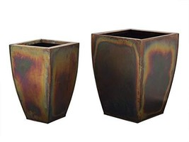 storeindya Set of 2 Metal Planter French Buckets Home Decor Garden Acces... - $100.47 CAD