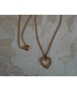 Pretty Rhinestone Heart Pendant Necklace - $6.00