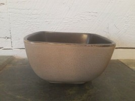 """Home Trends SQUARE Soup Cereal Chili Bowl 5 5/8"""" Wide Rave Taupe - $6.92"""