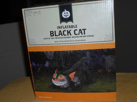 Halloween 4 FT Lighted Black Cat Airblown Inflatable - $44.22 CAD