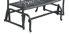 Outdoor Glider Elisabeth Patio  Cast Aluminum Bench Furniture Desert Bronze image 5