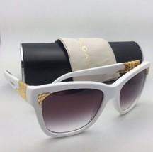 Nuovo Bvlgari Occhiali da Sole 8134-K 740/8H Bianco e Oro Placcato Frame