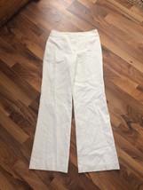 New Ann Taylor Women's Sz 4 Winter White Linen-Rayon Spandex Lined Dress... - $24.99