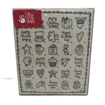 Close to my Heart Special Occasion Holidays Rubber Stamp Super Set of 30 - $24.99