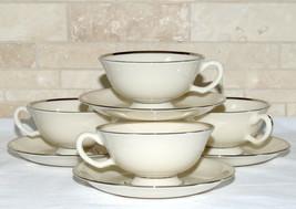 Lenox Montclair * 4 SETS CUPS & SAUCERS * Platinum, Excellent! - $19.79