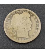 1892 Barber Quarter - 90% silver coin - $5.50