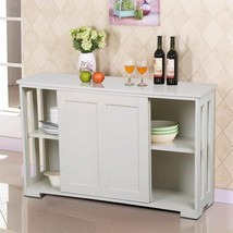 Traditional Sideboard Cabinet Buffet Dining Room Furniture Slide Doors W... - $159.02