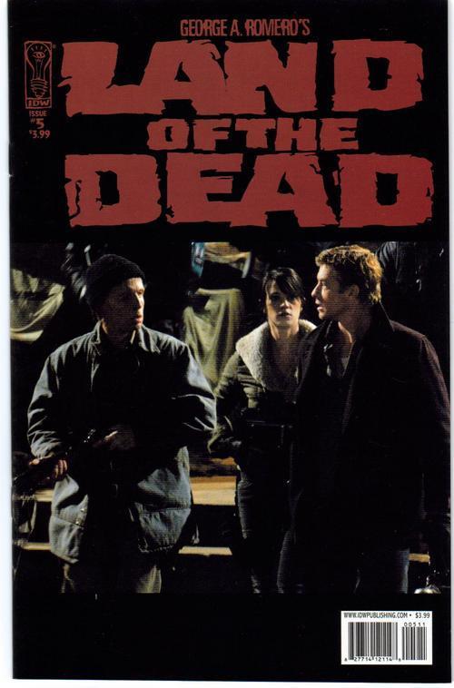 IDW Land Of The Dead Lot #5 Reg plus Variant Edition G Romero
