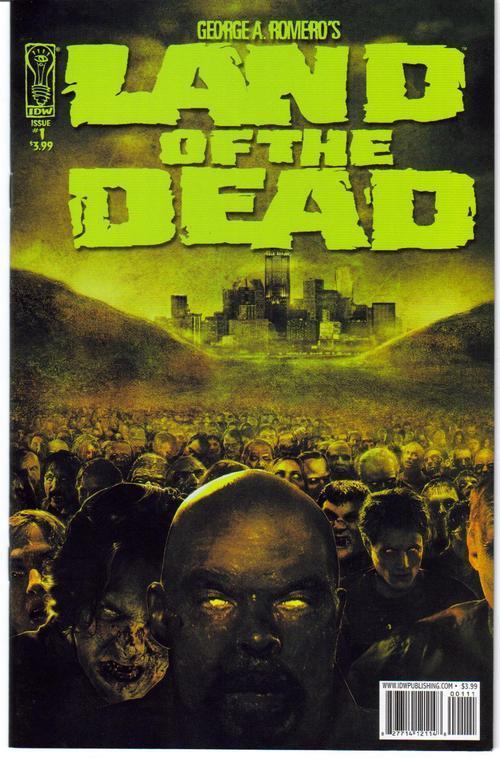 IDW Land Of The Dead Lot  #1 Reg plus Variant Edition G Romero