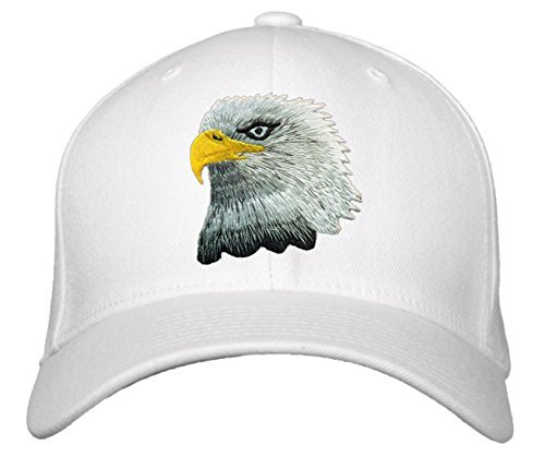 American Bald Eagle Hat - Adjustable Baseball Cap with Color & Style Options (Wh