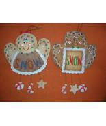 "Jubilee Giftware Resin Mr. & Mrs. ""SNOW"" Gingerbread Ornament   UPC:7105... - $9.90"