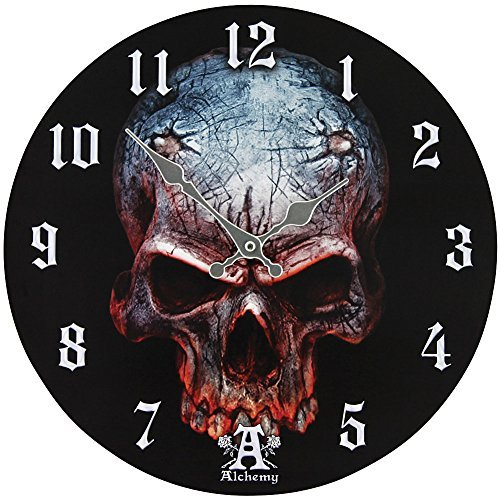 Primary image for Alchemy Gothic Birth of a Demon Clock Home Decor Skull Wall Clocks AAP10