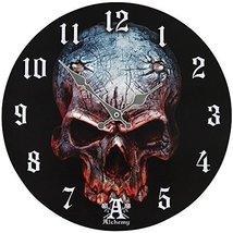 Alchemy Gothic Birth of a Demon Clock Home Decor Skull Wall Clocks AAP10 - $17.81
