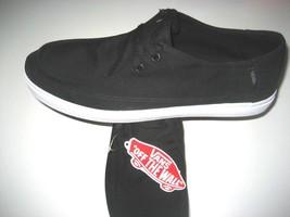 Vans Mens Rata Vulc SF Black Frost Grey Canvas Skate Boat Surf Shoes siz... - $44.54