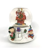 Peanuts Snow Globe Christmas Lucy Charlie Brown Snoopy Doghouse Woodstoc... - $22.30