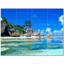 Beach Ocean Ceramic Tile Mural Kitchen Backsplash Bathroom Shower BAZ400033 - $120.00 - $1,440.00