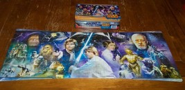 STAR WARS A New Hope Empire Strikes Back ROTJ Panorama 3 PUZZLE Set - $14.85