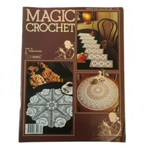 Vintage Magic Crochet Tricot #24 Pattern Magazine Table Centers Cloth Be... - $13.55