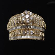 1.55 ct Natural Diamond Engagement Wedding Bridal Set Solid 10K Yellow Gold - $989.99